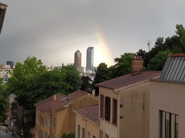 Arc en ciel sur Lyon