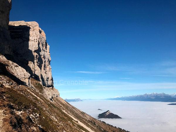 Cloud sea located close to Les Deux Soeurs Vercors